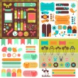 Collection of many cute scrapbook elements — Stock Vector #39986013