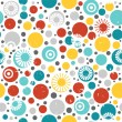 Abstract seamless pattern with circles — Stock Vector
