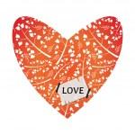 Valentine card design with decorative heart — Stock Vector