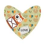 Valentine card design with decorative heart — Stock Vector #41581231