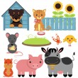 Set of cute domestic animals — Stock Vector #41581287