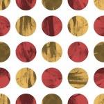 Retro geometric seamless pattern with circles — Stock Vector