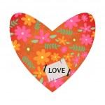 Valentine card design with decorative heart — Stock Vector #41581319