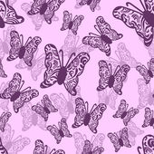 Seamless pattern with cute butterflies — Stock Vector