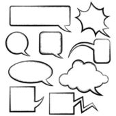 Speech bubble templates — Stok Vektör