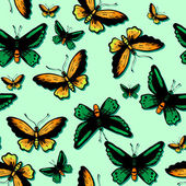 Butterflies silhouettes — Stock Vector