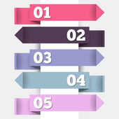 Paper tag labels — Stock Vector