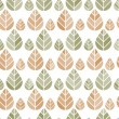 Stock Vector: Seamless pattern with leaves