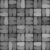 Grey pavement seamless pattern. Paving stone texture — Stock Vector