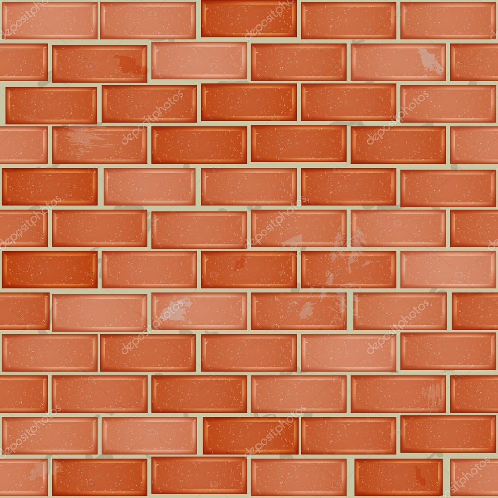 Red Brick Wall Tile Seamless Pattern With Bricks Stock