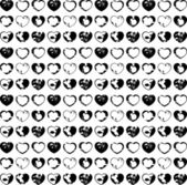 Pattern with ink splattered hearts — Stock Vector