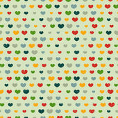 Pattern with colorful hearts — Vecteur