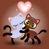 Cute kittens hugging — Vecteur