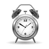 Illustration of a metal alarm clock — Stock Vector