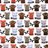 Cute little kittens of various color — Stock Vector