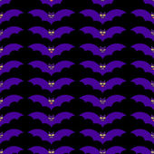Pattern with bats — Stok Vektör