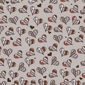 Decorative pattern with hearts — ストックベクタ