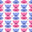 Pattern with  teddy bears — Stock Vector #45000129