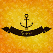 Anchor on sunny background. — Stock Vector
