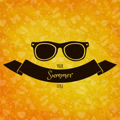 Sunglasses on sunny  background — Stock Vector