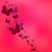 бабочки на розовом фоне — Cтоковый вектор
