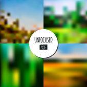 Set of unfocused nature landscapes — Stock Vector