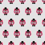 Seamless pattern with gentlemen kittens — Stock Vector #46618471