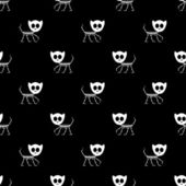 Seamless pattern with kitty skeletons — Cтоковый вектор