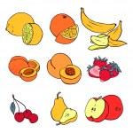 Various fruits — Stock Vector #48275615