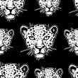 Постер, плакат: Seamless pattern with leopards