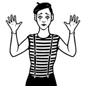 Mime vector illustration — Stock Vector