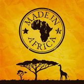 Card with giraffe silhouette — Vetorial Stock