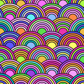 Abstract seamless pattern with colorful circles — Stock Vector