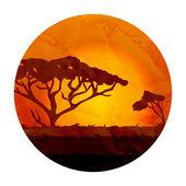 African landscape — Stock Vector
