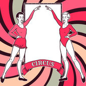 Two gymnast girls — Stock Vector