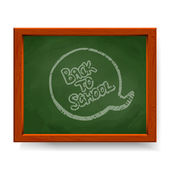 Back to school text — Stock Vector