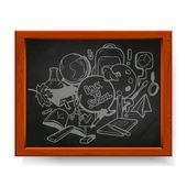Vuelta a la ilustración de la escuela — Vector de stock