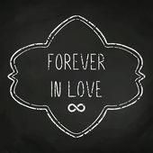 Love message on blackboard — Stock Vector