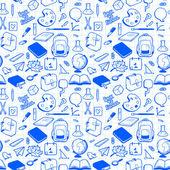 Seamless school pattern — Stock Vector