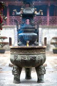 Incense burner at the City God Temple, Zhujiajiao, China — Stock Photo