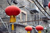 Red Chinese lanterns at Tianzifang, Shanghai — Stock Photo