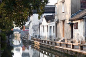 Early morning on Pingjianglu, Suzhou, China — Stock Photo