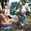 Statues of popular Chinese gods Guanyin and Guan Yu, Hong Kong — Stock Photo #39532999