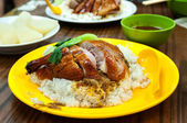 Roast duck with rice at a local Hong Kong restaurant — Stock Photo