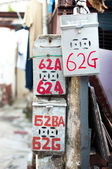 Classic Chinese mailbox, Tai O fishing village, Hong Kong — Stock Photo
