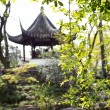 Traditional Chinese pavilion in the Humble Administrator's Garden, Suzhou, China — Stock Photo