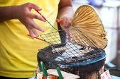 Grilled squid at Tai Fishing Village, Hong Kong — Stock Photo