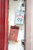Vintage Chinese postboxes, Hong Kong — Stock Photo