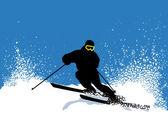 スキーヤー — ストックベクタ