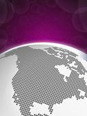 Earth concept America - Purple — Stock Vector